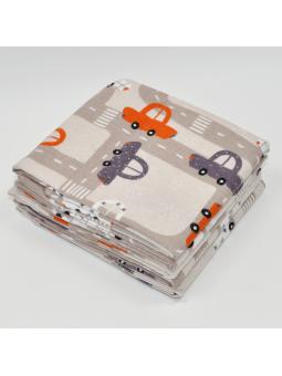 Flannel diaper AUTO beige