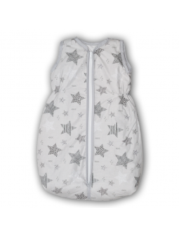 Baby sleeping bag STARS grey
