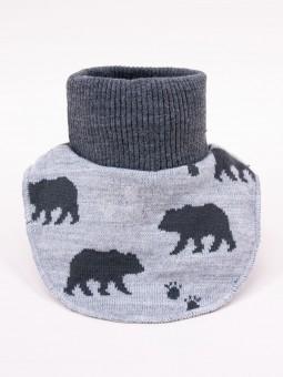 Boys snood BEAR grey
