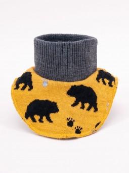 Boys snood BEAR mustard