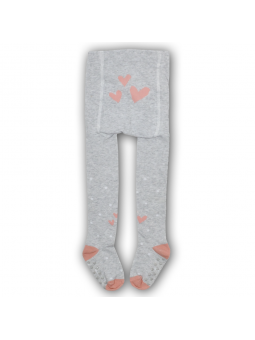 Cotton girls tights ABS grey