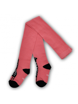 Cotton girls tights coral