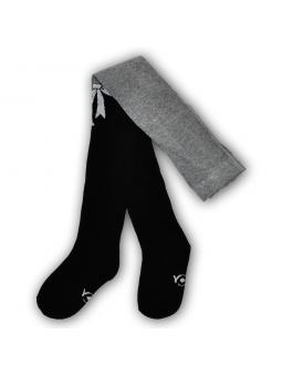 Cotton girls tights black grey