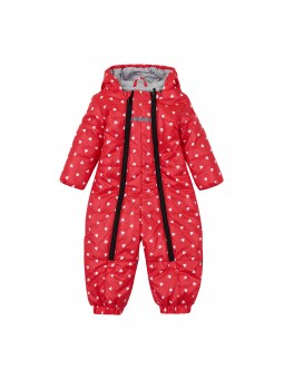 Girls overall winter red