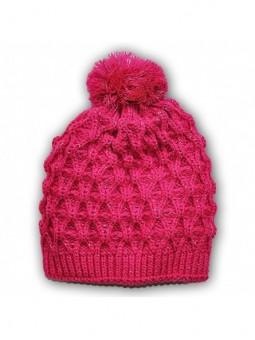 Rožinė žieminė kepurė