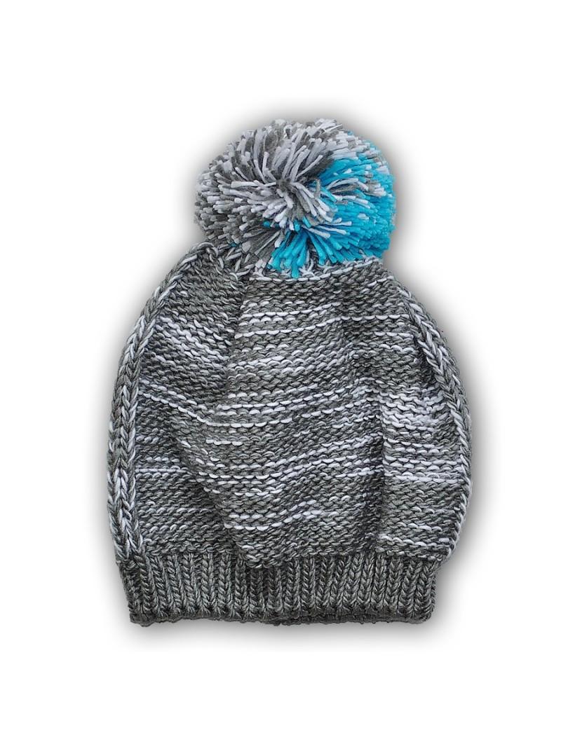 Šviesiai pilka žieminė kepurė