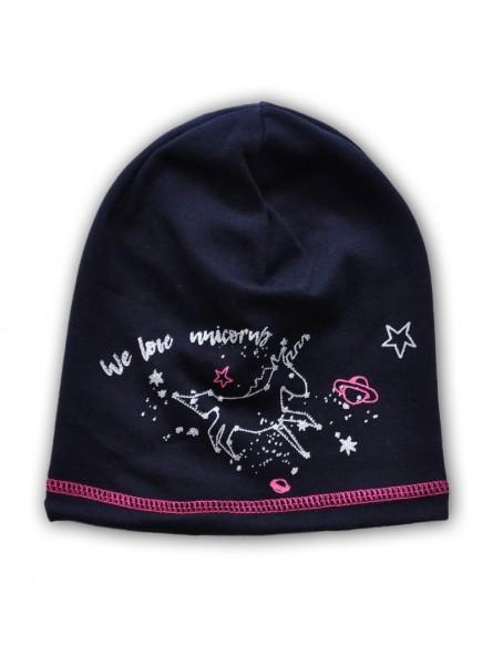 Tamsiai mėlyna kepurė VIENARAGIS