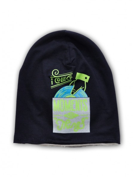Tamsiai mėlyna kepurė MOMENTS