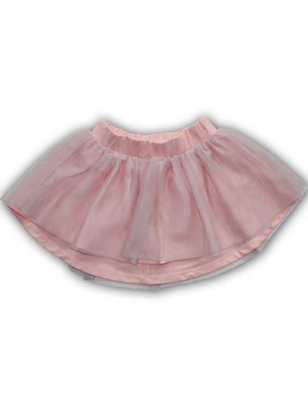 Rausvas tiulio sijonas