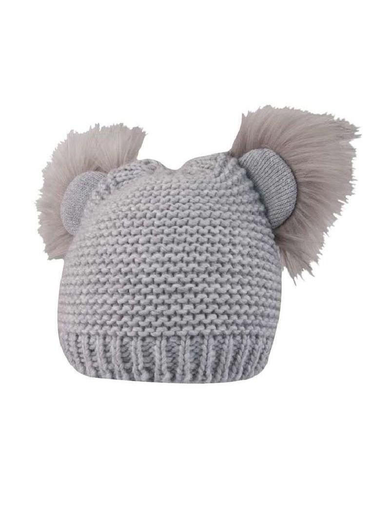 Pilka žieminė kepurė
