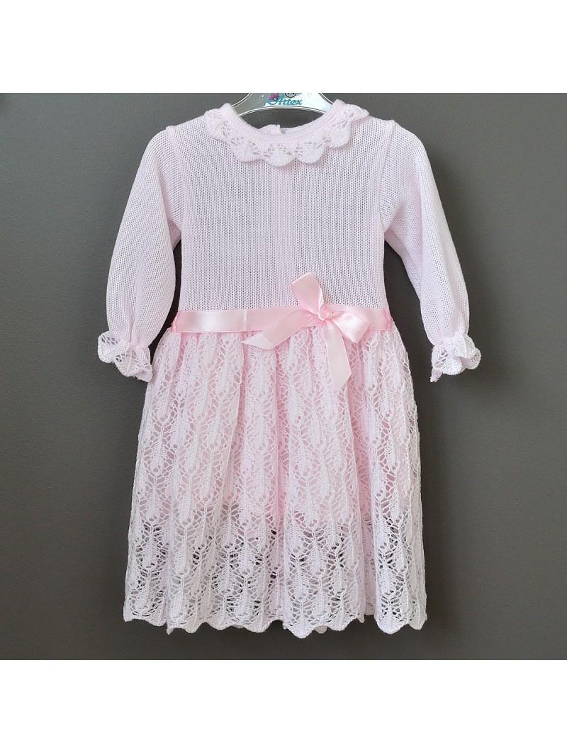 Rausva puošni suknelė