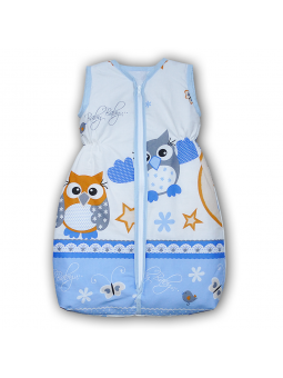 Baby sleeping bag OWL blue