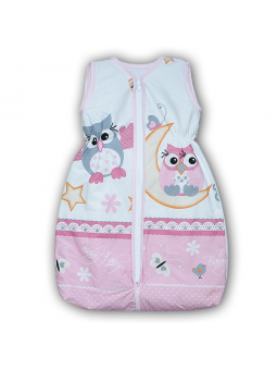 Baby sleeping bag OWL pink