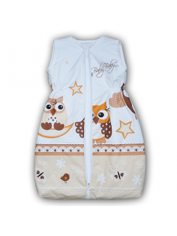 Baby sleeping bag OWL beige