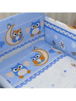 Patalynė kūdikiams OWL mėlyna