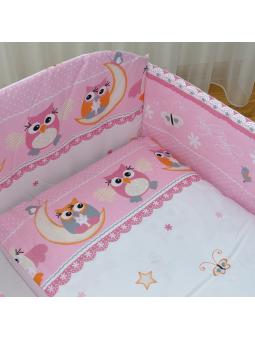 Patalynė kūdikiams OWL rožinė