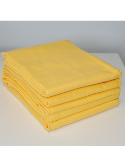 Yellow flannel diaper