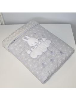 Baby blanket SKY BUNNY grey