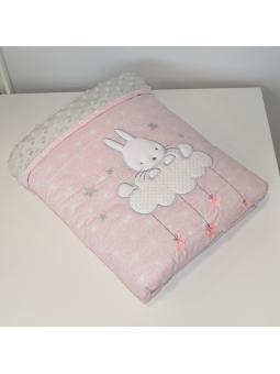 Baby blanket SKY BUNNY pink