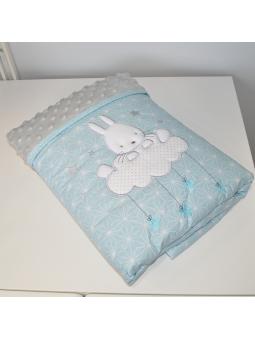 Baby blanket SKY BUNNY mint