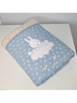 Baby blanket SKY BUNNY blue