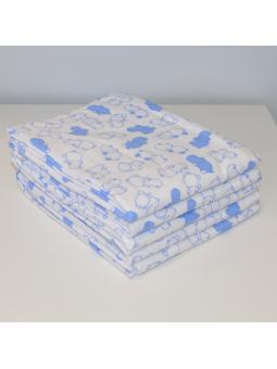 Flannel diaper HIPPOPOTAMUS
