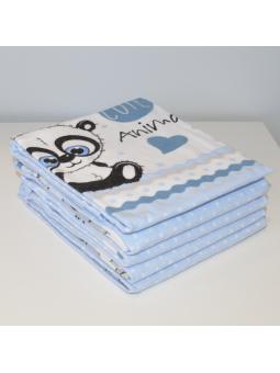 Flannel diaper PANDA
