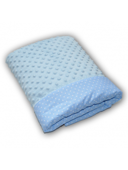 Baby blanket DOTS blue