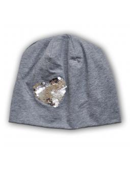 Pilka trikotažinė kepurė