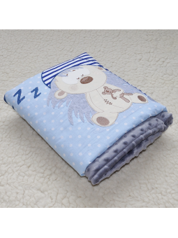 Baby blanket HEDGEHOG blue