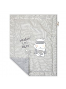 Baby blanket HERO grey